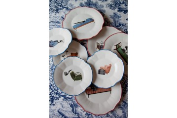 Set of 4 dinner plates Sogni