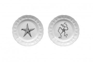 Set of 2 Small Plates Mammiferi Esclusi - Sea
