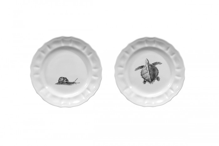 Set of 2 Small Plates Mammiferi Esclusi - Mix 1