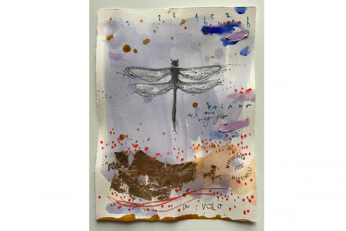 Dragonfly Mixed Media on paper