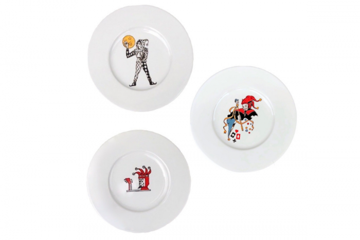 Set of 3 Small Plates Joker Colors