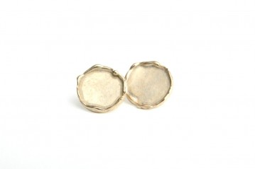 Bronze coriandoli earrings