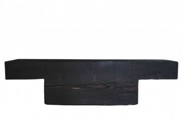 Charred Larch Wood Bench