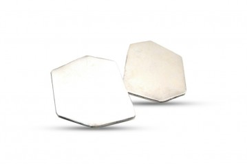 Irregural hexagon earrings